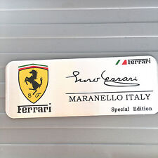 2pcs metal car badge logo modena Italy aluminum stickers fit for Ferrari