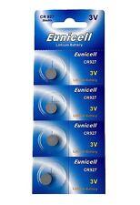 4 x CR927 3V Lithium Knopfzelle 30 mAh ( 1 Blistercard a 4 Batterien ) Eunicell