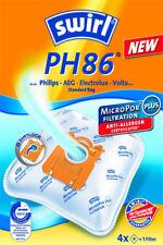 4  Staubsaugerbeutel Swirl PH86 für Philips FC 8022
