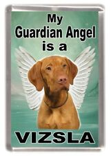 "Hungarian Vizsla Dog Fridge Magnet ""My Guardian Angel is a Vizsla"" by Starprint"