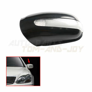 Door Mirror Left Housing Cover w Turn Signal For Mercedes W220 W215 S320 S430