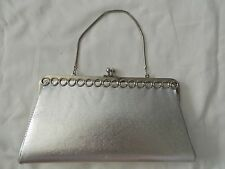 Silver Evening Purse/Clutch- vintage, snake chain handle