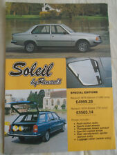 RENAULT 18TS Soleil SPECIAL EDITION brochure c1980's
