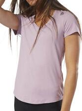 Reebok Workout Ready Speedwick Short Sleeve Womens Training Top - Purple