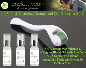 Derma Roller Kit Hyaluronic Acid & Dragons Blood Pre & Post-treatment packs