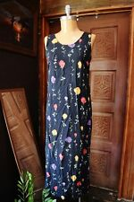 VTG R&K ORIGINALS Womens Sleeveless Scoop Neck Floral Multi-Color Maxi Dress 8
