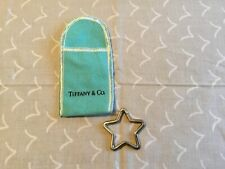 Tiffany & Co. Star Sterling Keychain with bag.