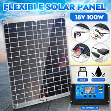 100W Mono Flexible Solar Panel W/10A Controller For Car Phone Charger USB Panel