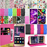 For HUAWEI P8 LITE 2017 -Premium Wallet Leather Case Flip Cover + Screen Guard