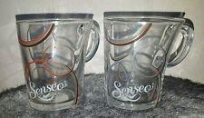 Lot tasses à café Senseo Circle Bleu, Rouge - Cuillère design. Fête anniversaire