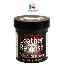 Leather Refinish Sofa Handbag Shoe Color Dye 4oz Dark Brown  Leather Dye Restore