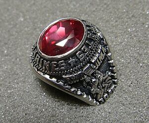 Men's U.S. Marine Corps Ring by Jostens with Red Stone, Size 9