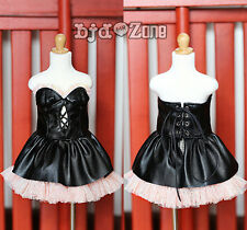 New Champagne Black Strapless Dew Shoulder Skirt BJD 1/3 Doll Clothes