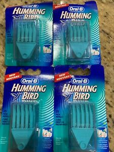 Oral-B Hummingbird Picks 100 Count Mint Refill 4 Packs Teeth Soft Heads Kolibri