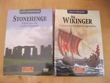 2x Alte Kulturen DVD NEU: Nr 2 Wikinger Unterwegs mit Langschiffen /5 Stonehenge