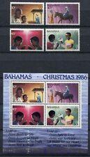 BAHAMAS 1986 Weihnachten Christmas 636-639 + Block 50 ** MNH