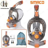 SMACO Full Face Mask Snorkel Scuba Swimming Underwater Diving Anti-Fog Glass