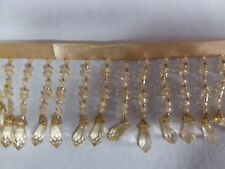 beaded fringe ,acrylic,2.5 inch ,sold by 3 yards ,gold