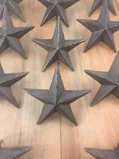 Cast Iron Nail Stars Set of 6 Craft Western Decor Texas Lone Star 3-1/2""