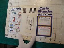 HIGH GRADE vintage paper: 1971 unused CARTE BLANCHE APPLICATION credit card