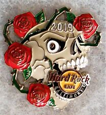 HARD ROCK CAFE BALTIMORE 2019 3D SKULL WITH RED ROSES PIN