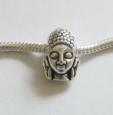 1 Metal Antique Silver Buddha Charm Bead - Fit Charm Bracelet