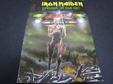 Iron Maiden Somewhere on 1987 Japan Tour Book with Stickered Ticket Stub Program