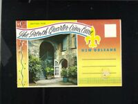 Vintage Souvenir Postcard Foldout The French Quarters New Orleans LA