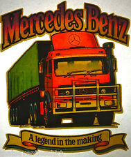 mercedes truck legend in making 80s vintage retro tshirt transfer print new NOS