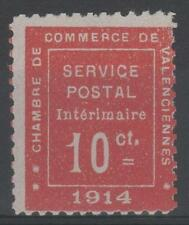 """FRANCE TIMBRE GUERRE N° 1 """" CHAMBRE COMMERCE VALENCIENNES 1914 """" NEUF xx TB M899"""