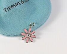 Tiffany & Co. Silver PINK Enamel Daisy Charm NEW