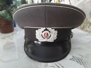 New East German Enlisted Men's Military Army Officer Visor Hat Surplus 57