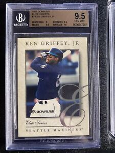 1997 Donruss Elite Inserts #7 Ken Griffey Jr. 1820/2500 BGS 9.5 GEM MINT