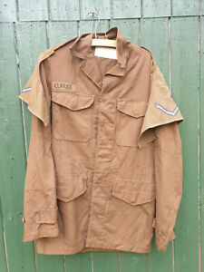 SADF SOUTH AFRICAN NUTRIA BROWN BUSH JACKET SMALL NAMED CLARKE L/CPL