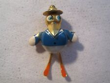 Vintage Whimsical Donald Duck Sailor Mountie Puffed Robotic Enamel Pin  - Spain