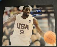 TYREKE EVANS SIGNED 8X10 PHOTO USA TEAM NBA PACERS W/COA+PROOF RARE WOW