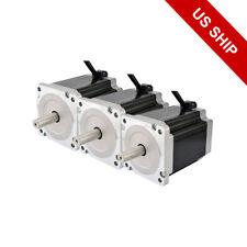 3pcs Nema 34 Stepping Motor Dual Shaft 1204oz.in(8.5Nm) CNC Router Kit/ Machine