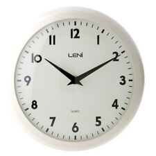 Leni Plastic School Wall Clock 24cm Ivory