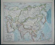 Tartary Siam Anam.sarawak Kingdom Weller 1862 Map Asia W/ Great Wall Of China