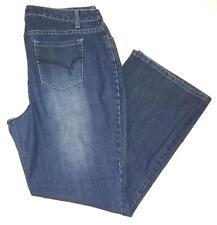 Fashion Bug Womens Jeans Size 20 Blue Boot Cut Mid Rise Denim Pants