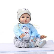 "Lifelike Real Life Girl 22"" Newborn Reborn Baby Dolls Soft Silicone Doll Gift"