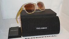 New Authentic Sunglasses Dolce & Gabbana D&G Gold Lace/Brown DG4226 285113
