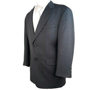 KRIZIA Italy for Dillard's Made USA Black Sport Coat Blazer 41 Regular