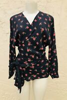 NWOT ZARA BLACK FLORAL PRINTED SHIRT top blouse  new Size M fast 2183/051/330