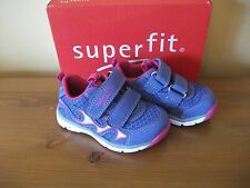 Girls SUPERFIT 61 Lilac RUBBER Hook/Loop Trainer UK 4 Eur 20 BNIB