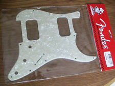 NEW Genuine Fender Strat HH Pickguard 11 Hole White Pearl MOTO 0991371000 USA