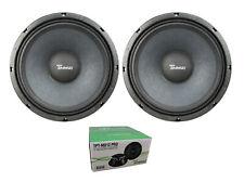 "Pair of Timpano 12"" 1600W 8 Ohm Pro Audio Mid Range Loudspeaker MD12PRO"