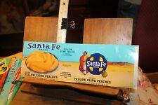 Vintage Can Label Santa Fe Brand Yellow Cling Peaches Arkansas City Kansas