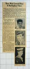 1964 Medals For Frank Smith, St Ives David Wright, Hayle, Rodney Evans Penzance