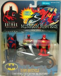 Batman The Animated Series Team Batcycle With Sidecar Nightwing Figure Mission